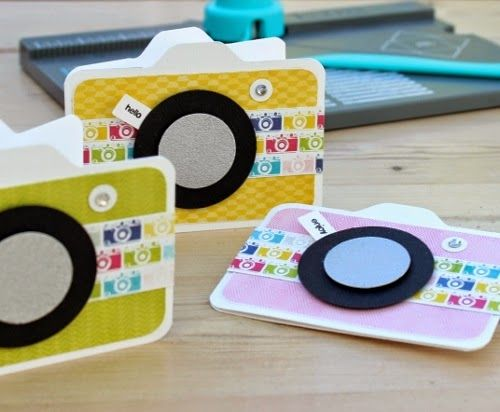 Blush Crafts: Mini camera card with the envelope punch board...