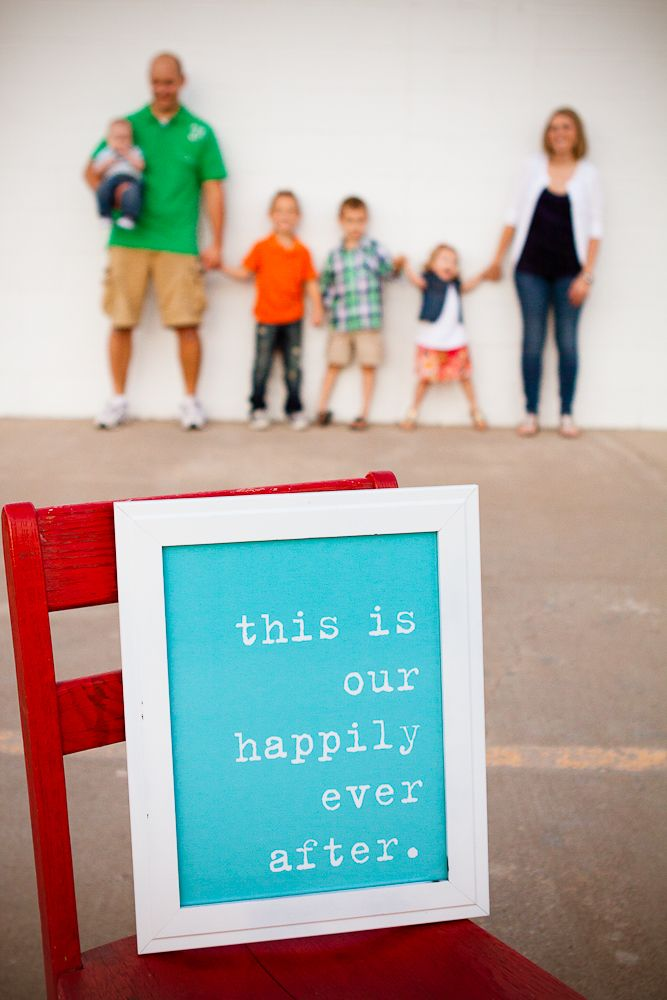 Great family photo idea! I would use it as the center piece of a collage so that some of the shots would be in focus.