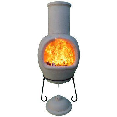 Gardeco XL Metal Wood Burning Chiminea Finish: Natural Clay