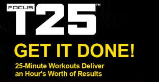 Review of Focus T 25 by Shaun T (creator of Insanity, Hip Hop Abs and Asylum).  25 minute workout.