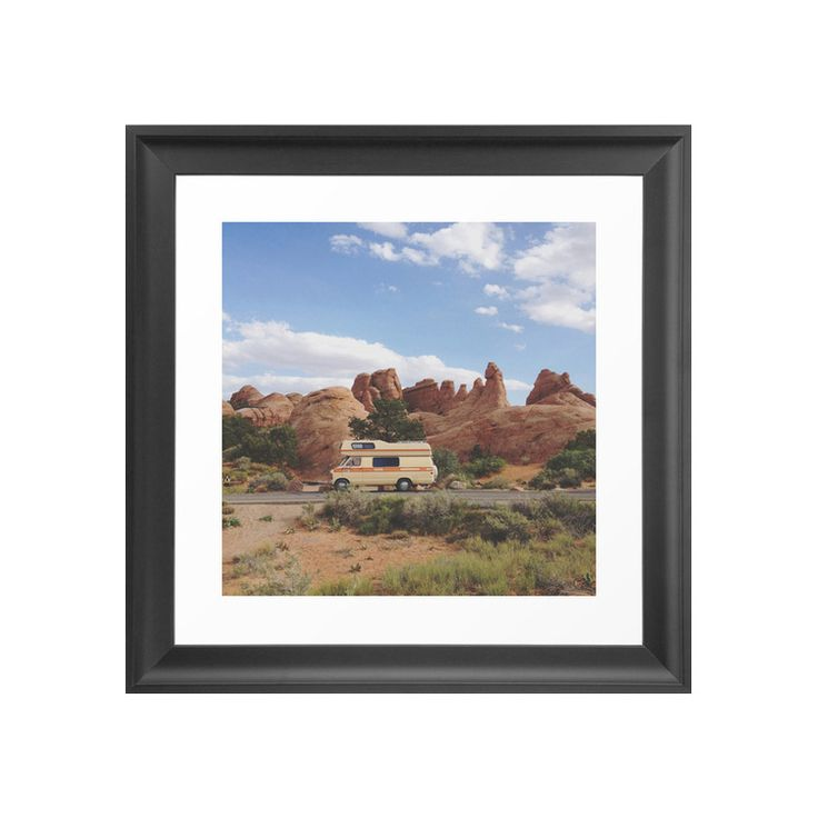 Arches, Utah is one of America's most unique, otherworldly sights. Experience the bold colors and prehistoric rock formations as this print chronicles the travels of one Canadian couple exploring the A...  Find the Road Warrior Art Print, as seen in the The Outdoor Outfitter Collection at http://dotandbo.com/collections/holiday-boutiques-the-outdoor-outfitter?utm_source=pinterest&utm_medium=organic&db_sku=113309