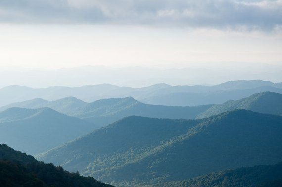 Blue Ridge Mountains Photography Print Blue Misty Mountains