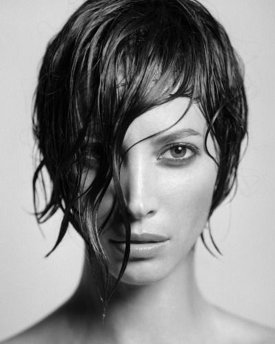 wet christy: James Of Arci, Faces Beautiful, James Houston, Wet Hair, Christy Turlington, Christyturlington, Photography Portraits, Shorts Hair Style, Hair Looks