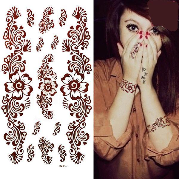 Временные Татуировки Chic Пейсли Менди Мя Украшения Тела Макияж Водонепроницаемый Наклейки 8197509