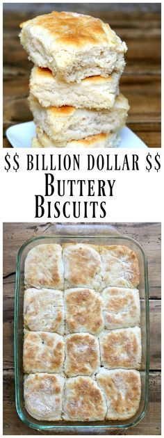 These Billion Dollar Buttery Biscuits are super easy to make, and they're the best buttery biscuits ever. They're also known at 7Up Biscuits, but Buttery Biscuits is a better description. Recipe from RecipeBoy.com
