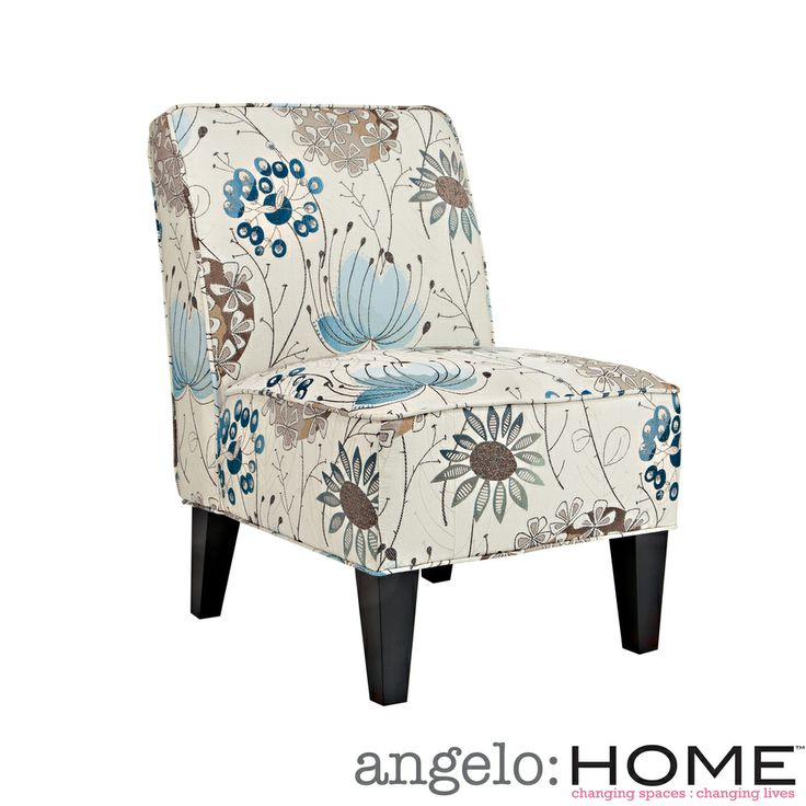 Best Angelo Home Dover Spring Parisian Blue Flower Armless 400 x 300