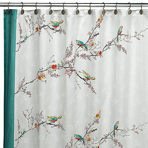 Simply Fine LenoxR Chirp 70 Inch X 72 Fabric Shower Curtain
