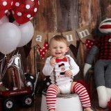 Sock Monkey Cake Smash – First Birthday Pictures – Arkansas baby photographer »…