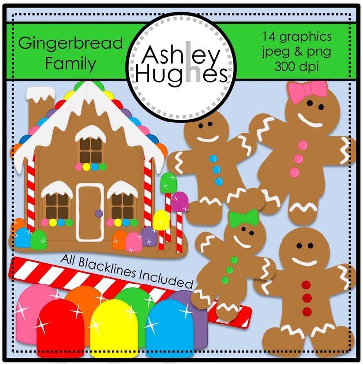 $ Gingerbread Family: Graphics for Commercial Use