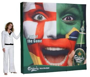 super lightweight pop-up display with fabric | Expo Display Service