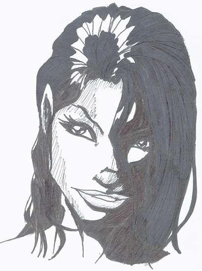 witchblade (i think) sketch