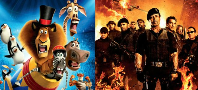 Madagascar 3 e I Mercenari 2 in cima al box office del weekend.