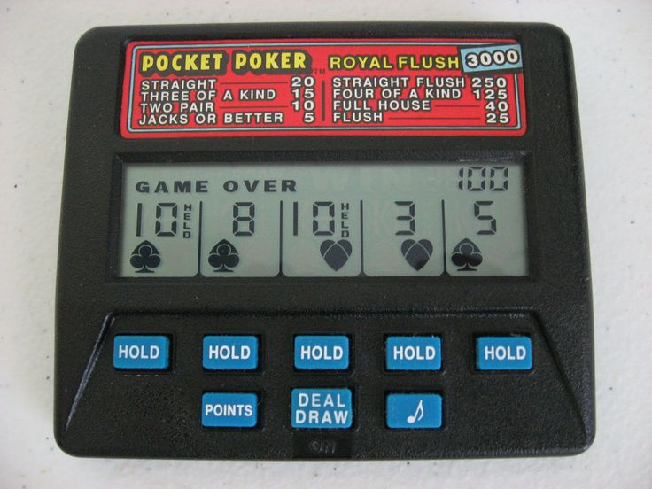 Radica Pocket Poker Royal Flush 3000 Handheld Casino Game
