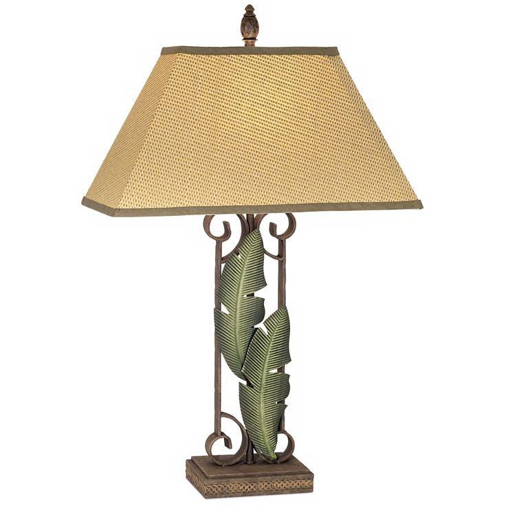 Banana Leaf Tropical Table Lamp   Style # 41134