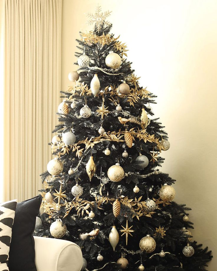 Christmas Tree Decorated In Black : Best ideas about black christmas trees on