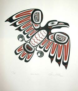 Tlingit Raven ⚪️Inuit / Tlingit / Haida : More At FOSTERGINGER @ Pinterest