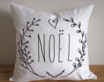 NOEL Pillow Cover Christmas Gift - Christmas Decoration Pillow  - Noel Pillow - Free Shipping - Rustic Farmhouse Style Cushion - Pillow Case