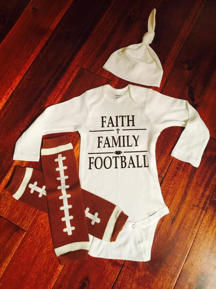 Baby Outfit - Football Outfit - Faith Family Football Outfit - Unisex Outfit - Coming Home Outfit - Boy Outfit - Girl Outfit by Jaymerdoo on Etsy