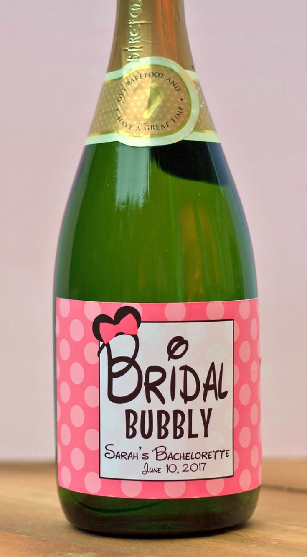 Celebrate a Disney a bachelorette with custom bottle labels! Disney Bachelorette Full Size Champagne Label - Minnie Mouse Bottle Labels - Bridal Party Favors