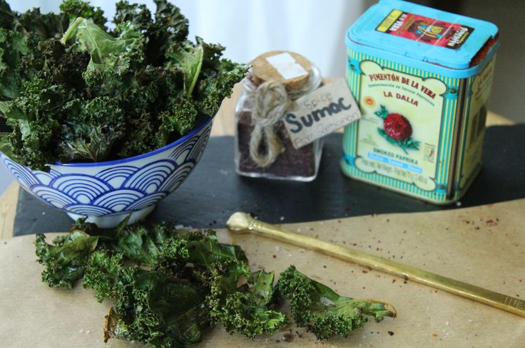 Kale chips with Paprika and Sumac