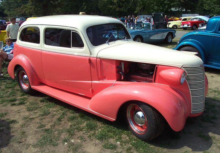 1938 Chevrolet Sedan--Pink & Cream