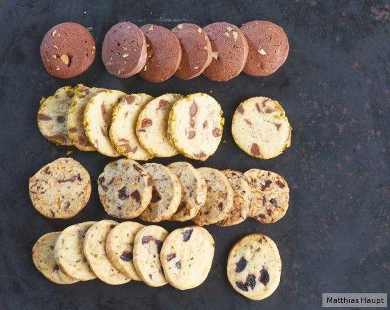 Cornflakes-Schoko-Kekse (dritte von oben)