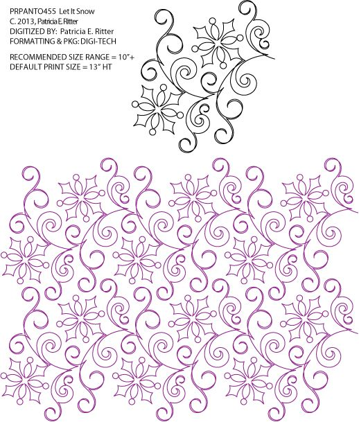 Free Digital Longarm Quilting Patterns : 217 best Digital Pantographs images on Pinterest Free motion quilting, Longarm quilting and ...