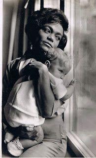 Eartha Kitt holding her only child, Kitt Shapiro - 2013-05-08-EKHirshfeld.jpeg