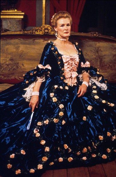 Dangerous Liaisons - Robe à la française; a possible reproduction of Madame de Pompadour's teal gown
