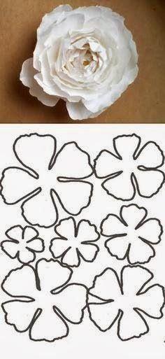 flower template on paper #diy #flower