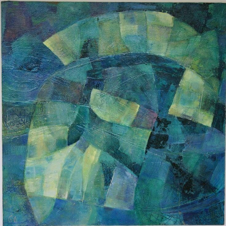 Metamorphosis 1 acrylic on woodpanel 50 x 50 cm 2002