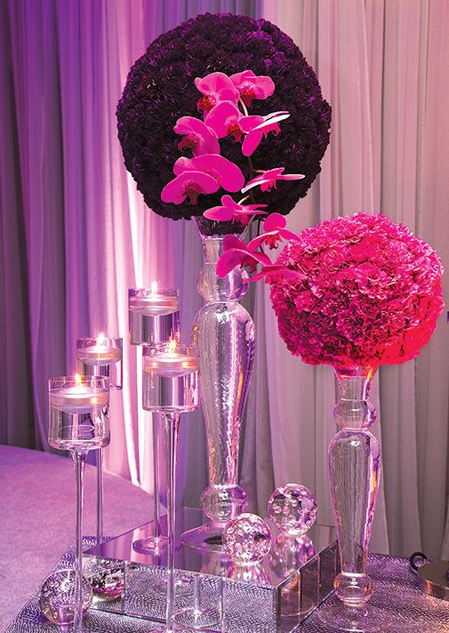 carnation wedding centerpiece