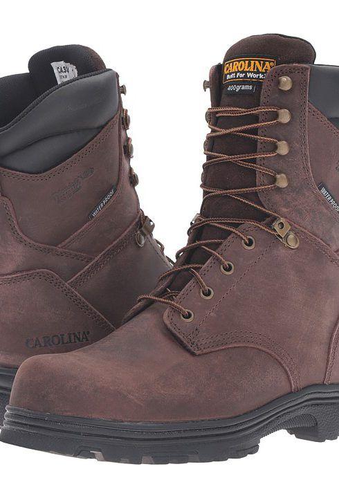 Carolina 8 Steel Toe Waterproof Insulated Work Boot (Gaucho Crazyhorse) Men's Work Boots - Carolina, 8 Steel Toe Waterproof Insulated Work Boot, CA3534-200, Footwear Boot Work, Work, Boot, Footwear, Shoes, Gift, - Fashion Ideas To Inspire