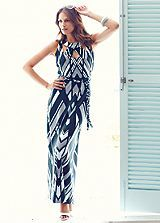 Graphic Print Maxi Dress #shiptoshore