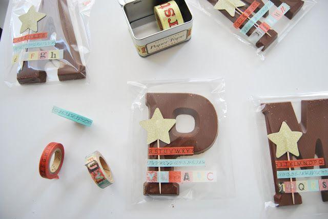 Letras de chocolate para regalar.