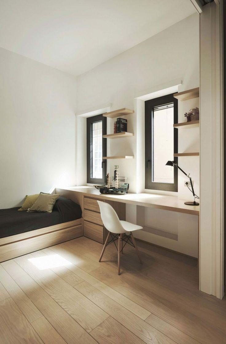 Moderne Holz Möbel wurden für die Einrichtung der Kinderzimmer gewählt