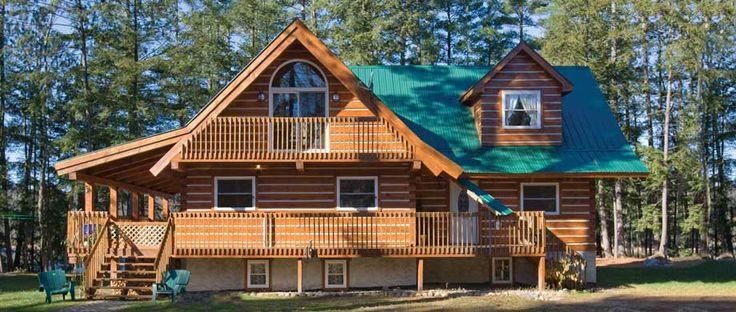 Ecolog Homes Haliburton Ontario Log Home Kits Log Homes Log Home Kits How To Build A Log Cabin
