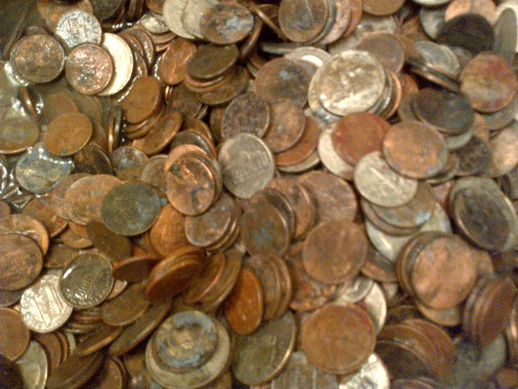 http://coin-cleaning-service.merschat.com : Corroded fountain coins donated to charity.  Mostly pennies.  We cleaned this small batch in only a few hours, banked them the next day, then sent a check to another satisfied customer.  It took years to develop and perfect our coin cleaning process.  Make it easy on yourself.  Send your rusty, dirty, old coins to us; the premier coin cleaning service in the United States.