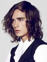 Mens Long Hairstyle von Kinky Curly Straight
