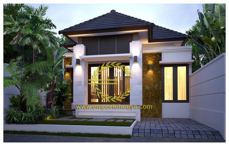 Desain Rumah 1 Lantai 3 kamar Lebar Tanah 8 meter dengan ukuran Tanah 1 are/100m2