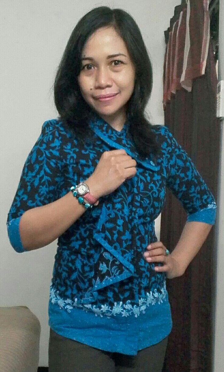Blue batik shirt