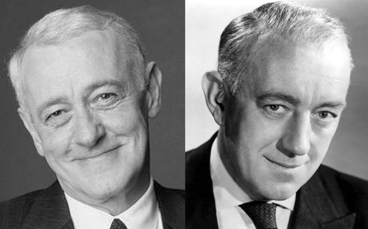 The late Sir Alec Guiness (R) is the prototypical chameleon, as his looks resembles many other actors over time... case in point; John Mahoney (L) bears a remarkable likeness to him.