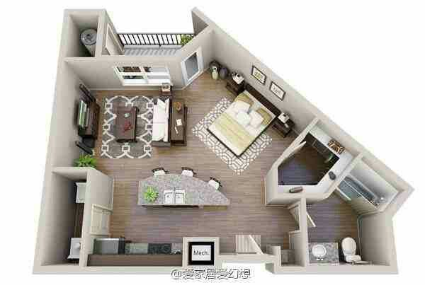 Floor Plan For Irregular Shaped Apartment