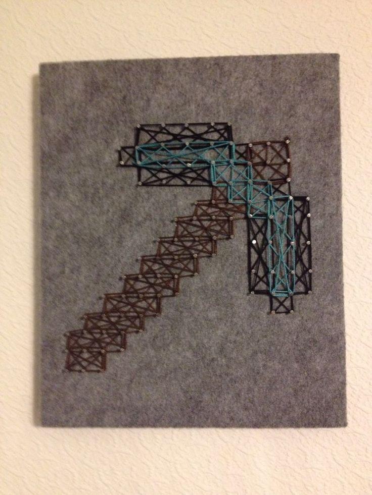 Minecraft String Art Pickaxe