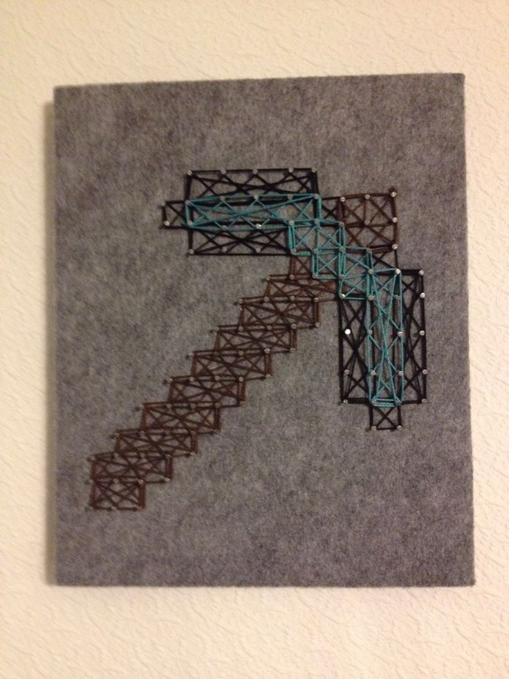 Minecraft String Art Pickaxe
