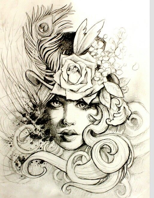 Victorian Rose Tattoo Love this sketch! / 19...
