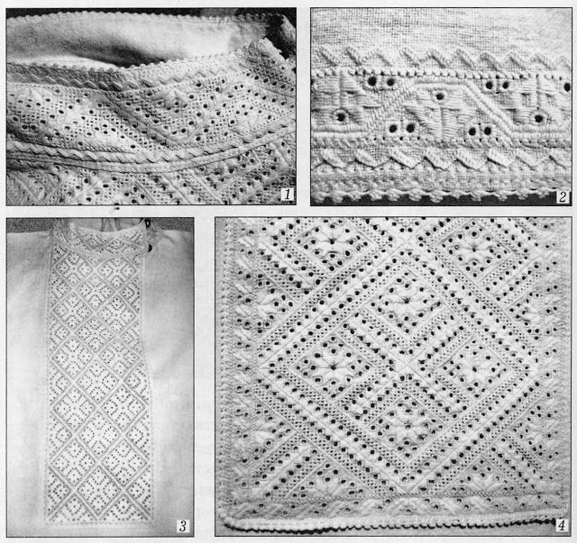 article & photos of whitework embroidery of Vinnytsia region, East Podillia, Ukraine ~ by FolkCostume&Embroidery