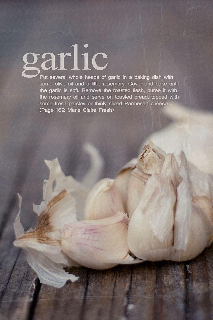 beautiful purple tinged garlic
