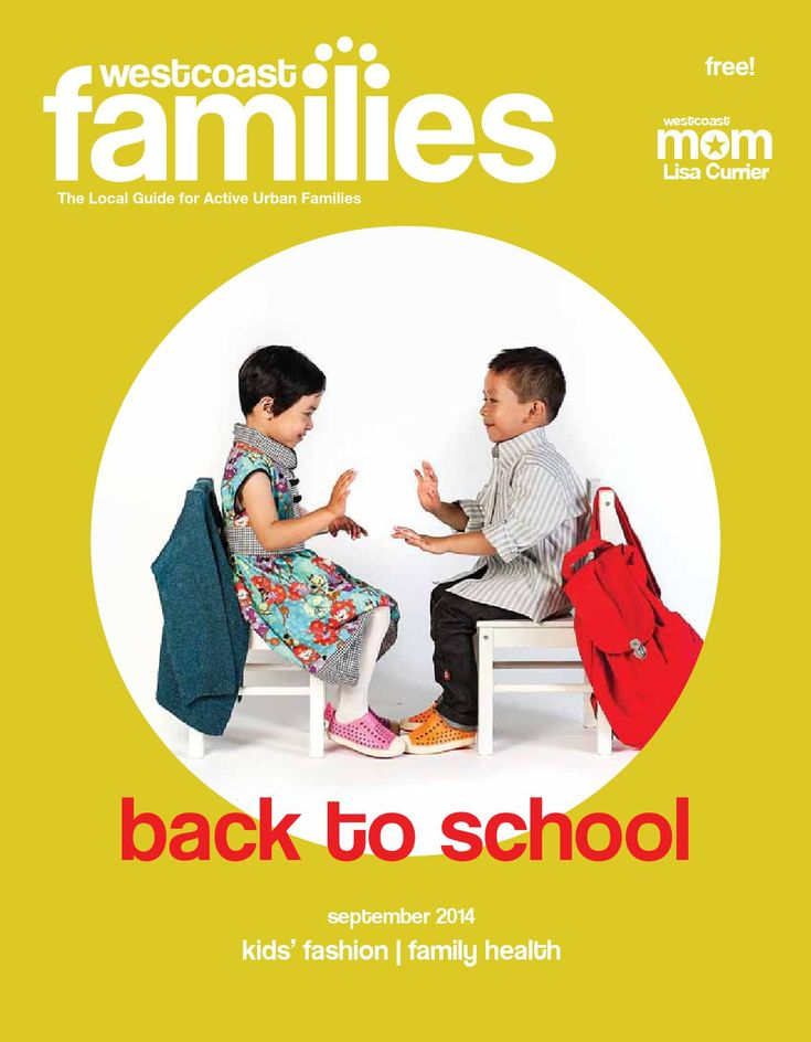 WestCoast Families September issue - cover models dressed in Redfish Kids!