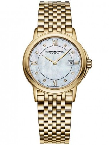 Raymond Weil Gold Plated Round Mother Of Pearl Dial 5966-P-00995